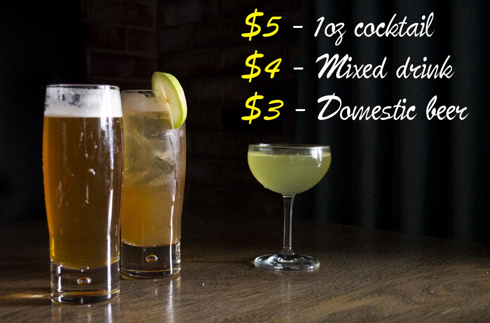 beer and cocktail special ad
