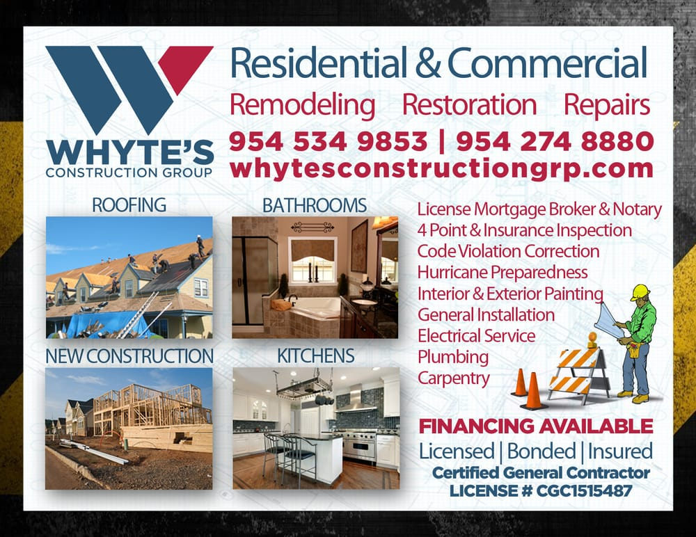Whyte's Construction Group%0AWhytesconstructiongrp.com