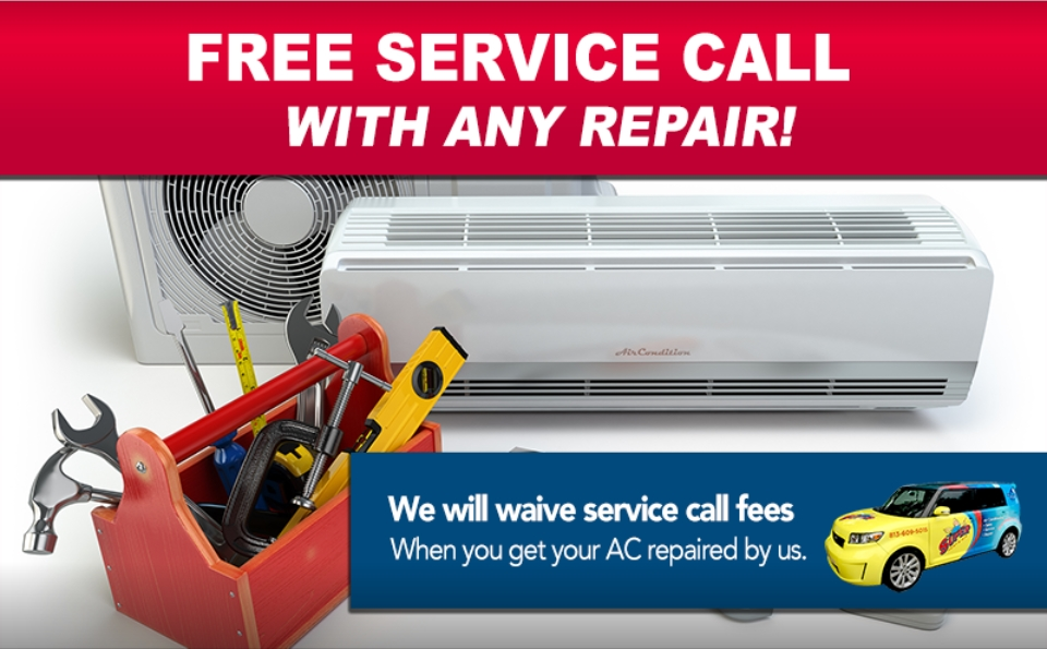 Photo of FREE AC service call with any repair