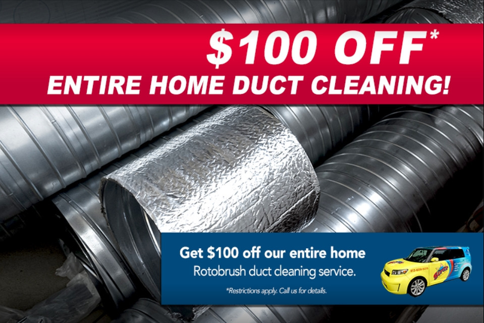 Photo of A/C duct cleaning service special