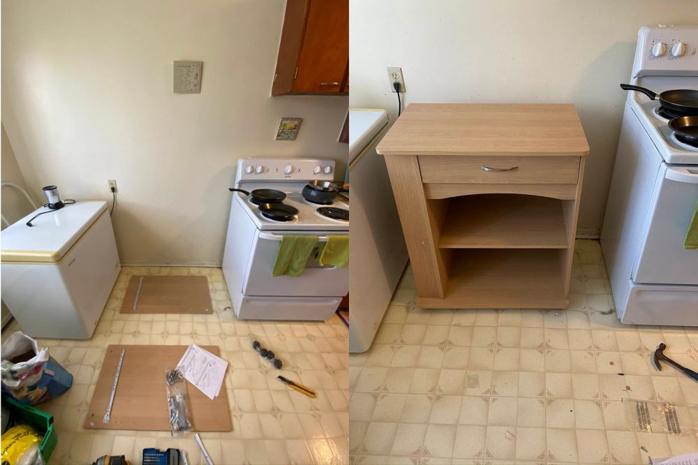 photo of handyman ottawa furniture assembly before and after pic