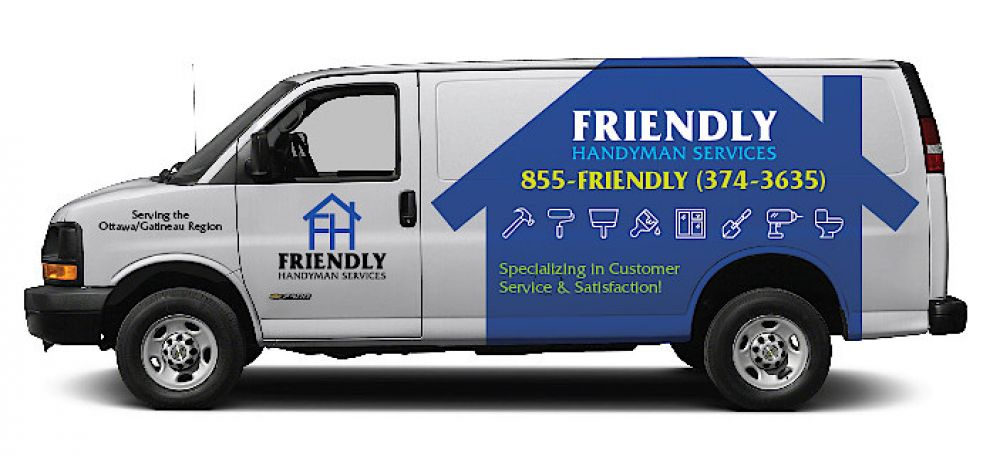 photo of the Friendly Handyman Services company home repairs service vehicle for Ottawa Gatineau region